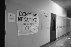 Don't Be Negative Hallway